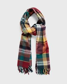 D2. CHECK WOOL SCARF