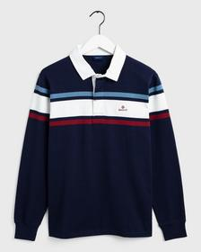 D1. STRIPED CHEST HEAVY RUGGER - 433/EVENING BLUE