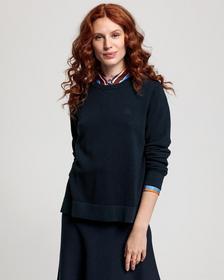 Baumwoll Piqué Sweater