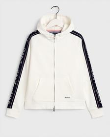 D1. GANT ARCHIVE SWEAT ZIP HOOD, EGGSHELL