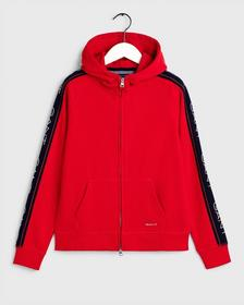 D1. GANT ARCHIVE SWEAT ZIP HOOD, BRIGHT RED