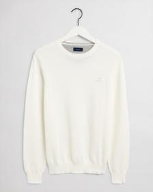 COTTON PIQUE C-NECK