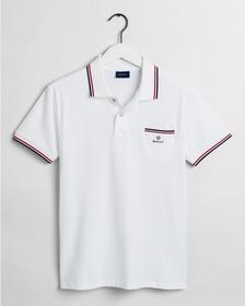 Piqué Rugger Poloshirt mit Kontraststreifen