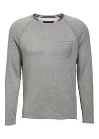 Pullover, crew-neck, chest pocket