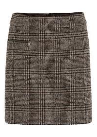 Skirt, short length, single zip poc