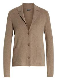 Cardigan, long sleeve, lapel collar