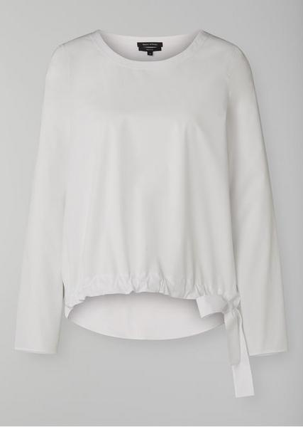 Blouse, sporty, with knot at hem