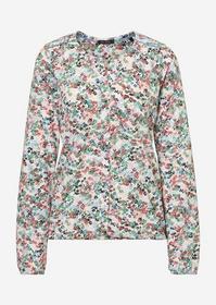 T-shirt, long sleeve, round neck wi - B00/combo