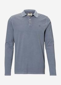 Polo, long sleeve, button placket, - V82/multi/moo