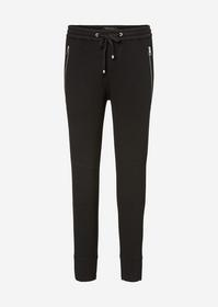 Pants, Lontta, tailored jersey, zip - 990/black