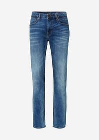 Denim, 5-pocket, regular fit, low w