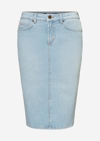 Denim Skirt, regular length, pencil - 048/Light Bl