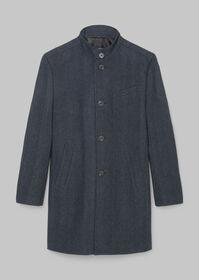 Coat, regular fit, fully lined, lon