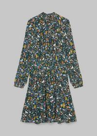Dress, feminine shape, detailed nec
