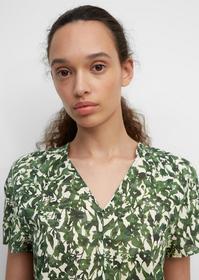 Blouse, v-neck, short sleeved, femi