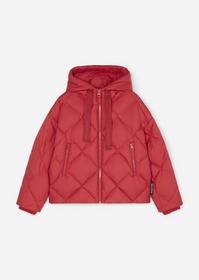 Puffer jacket, real down, diamond q