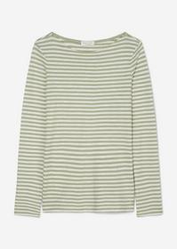T shirt, long sleeve, boat neck, st