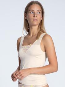 DAMEN Top ohne Arm, light ivory