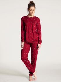 DAMEN Pyjama mit Bündchen, rio red
