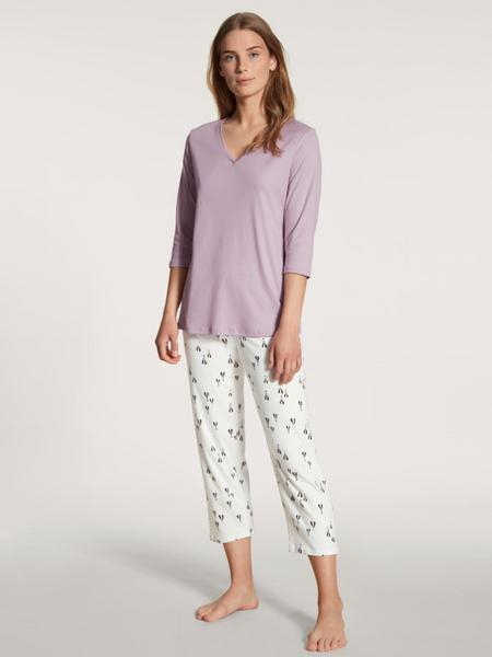 DAMEN Pyjama 7/8, lavender frost