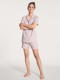 DAMEN Pyjama kurz - 339/dark lapis blue