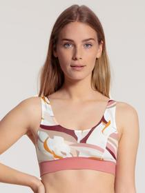 DAMEN Bustier, rosy glow print