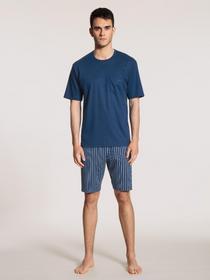 HERREN Pyjama kurz, pottery blue
