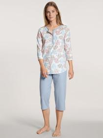 DAMEN Pyjama 3/4 - 420/blue fog