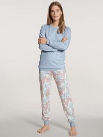 DAMEN Pyjama mit Bündchen
