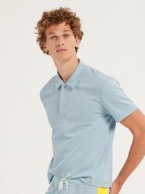 HERREN T-Shirt, tempest blue