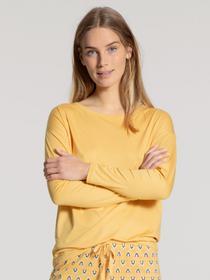 DAMEN Top langarm, sunny yellow
