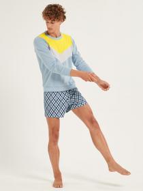 HERREN Boxer Short, tempest blue