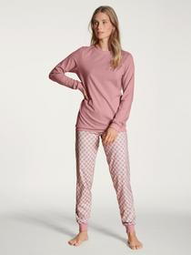 DAMEN Pyjama mit Bündchen, rose bud