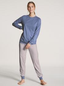 DAMEN Pyjama mit Bündchen, bleached denim