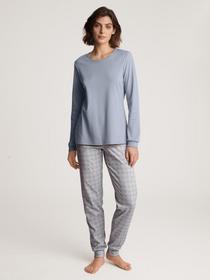 DAMEN Pyjama mit Bündchen, lovely blue