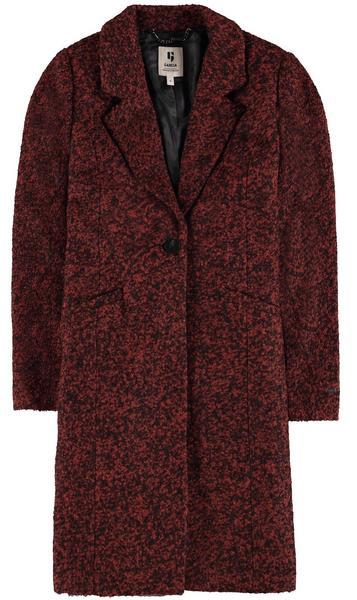 Braun Melierter Mantel Mit Knopf- Und Druckknopfverschluss