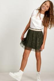 C92530_girls skirt - 3128/3128-green leaves