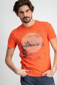 E91003_men`s T-shirt ss - 3045/3045-dark coral