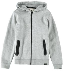 H93667_boys sweat cardigan - 66/66-grey melee