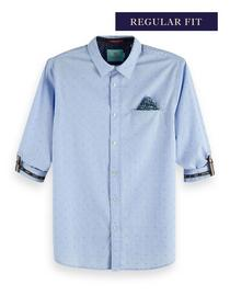 REGULAR FIT- Shirt with sleeve coll - 0219/Combo C
