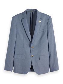 Chic blazer with mini yarn-dyed pat - 0218/Combo B