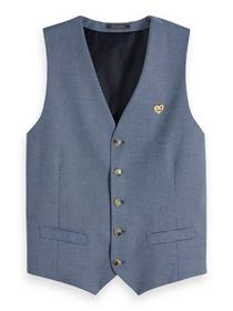 Classic gilet in yarn-dyed quality - 0218/Combo B