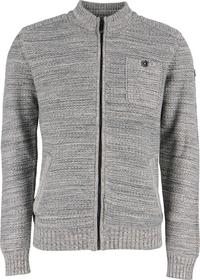 Pullover full zip cardigan, twisted col,special kn