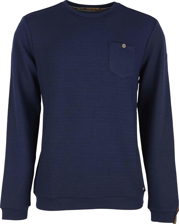 Sweater R-Neck, jacquard stretch