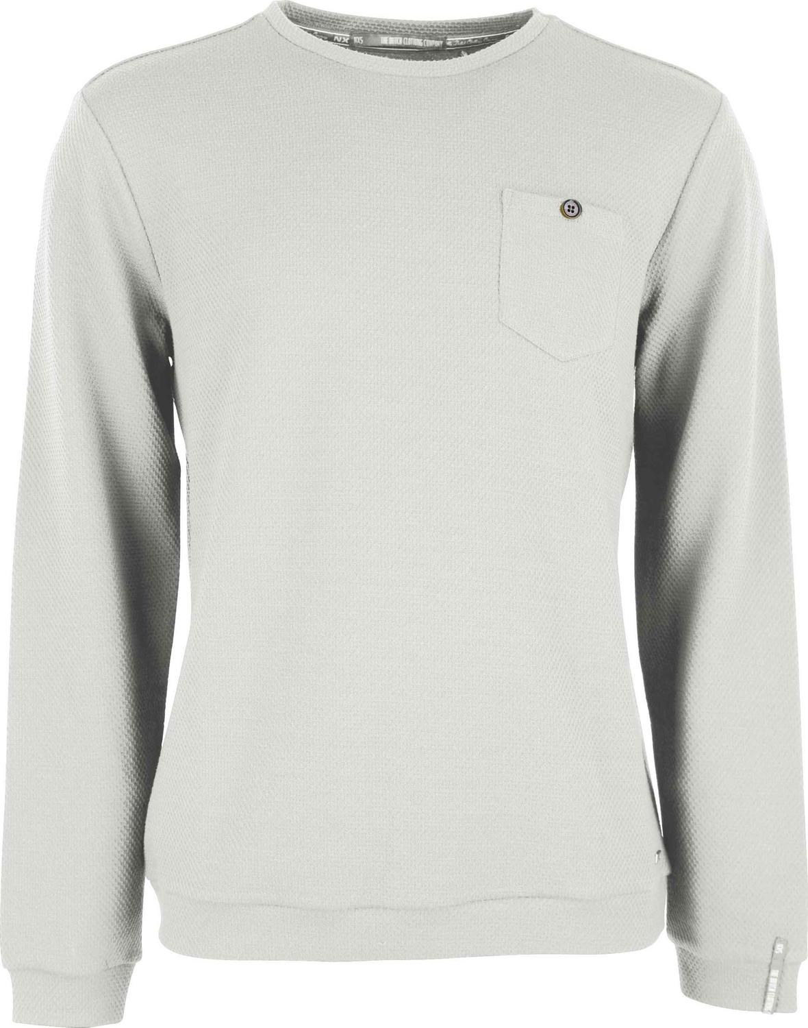 Round Neck Jacquard Sweater With Chest Pocket