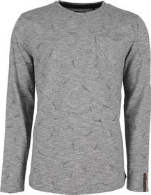 T-Shirt l/sl, R-Neck ,ao printed, garm.dyed