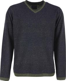 Pullover V-neck rolli, nep yarn, plated knit