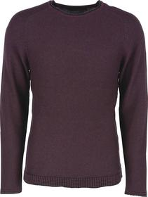 Pullover R-neck raglan, yd stripes, with wool