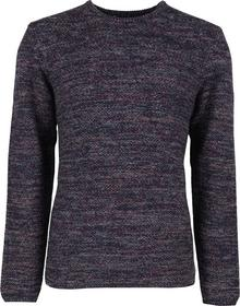 Pullover R-neck, twisted hvy moss stitch
