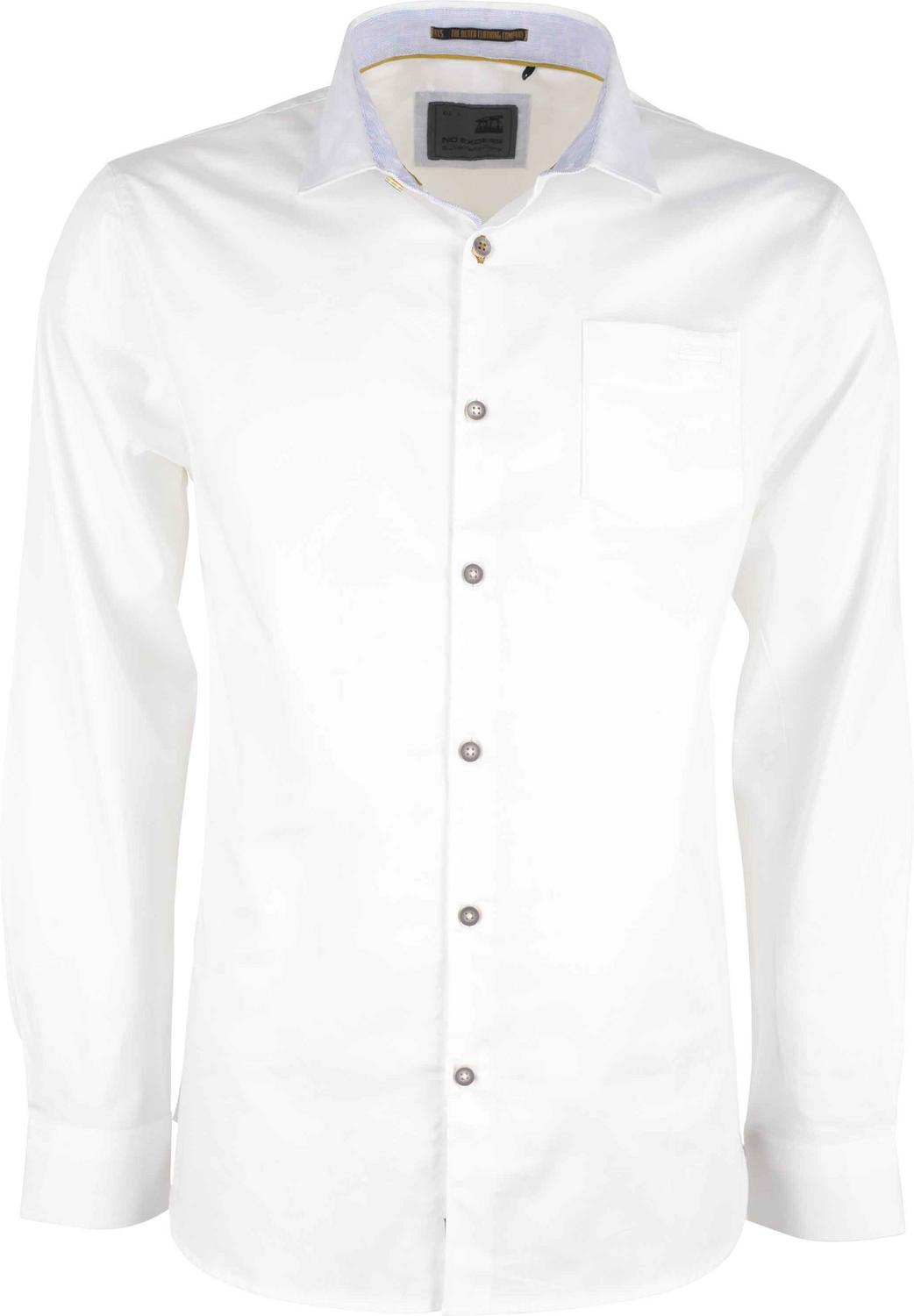 Satin Stretch Shirt With Chest Pocket